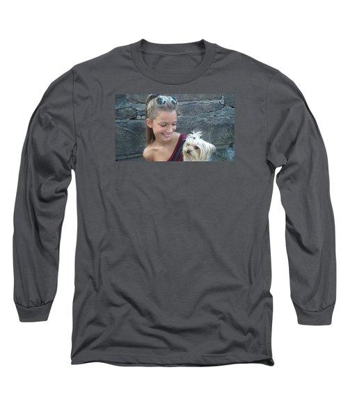 Dog And True Friendship 4 Long Sleeve T-Shirt by Teo SITCHET-KANDA