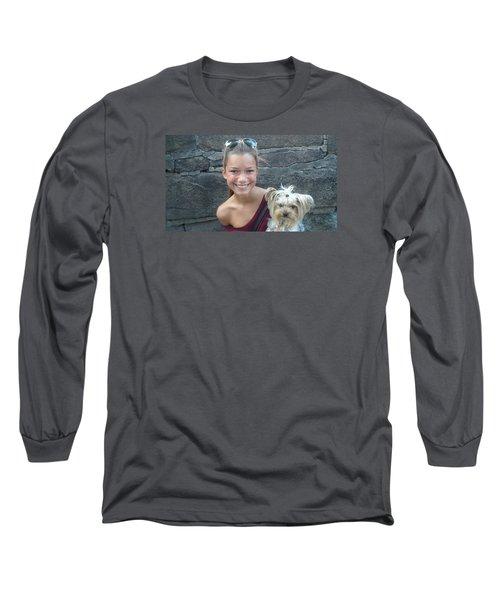 Dog And True Friendship 5 Long Sleeve T-Shirt by Teo SITCHET-KANDA