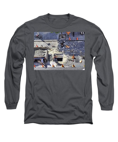 Dog Daze Long Sleeve T-Shirt by Steve Sahm