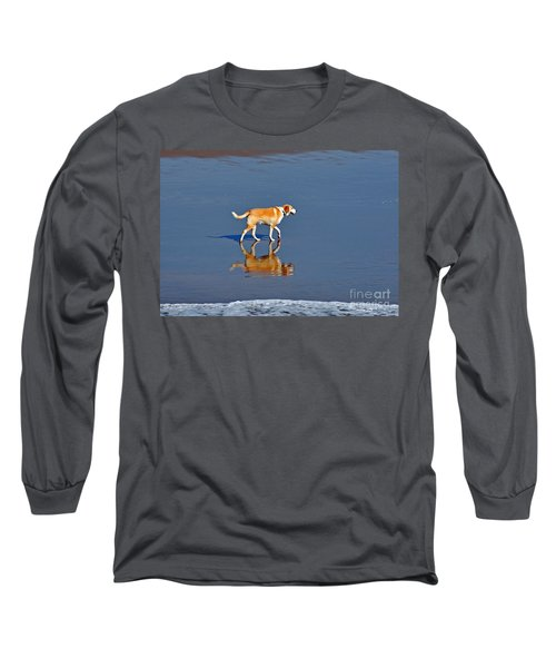 Dog On Water Mirror Long Sleeve T-Shirt