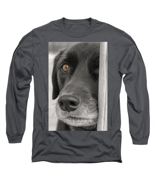 Dog Peek A Boo Long Sleeve T-Shirt