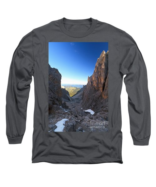 Long Sleeve T-Shirt featuring the photograph Dolomites At Morning by Antonio Scarpi
