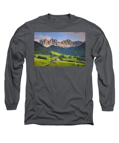 Dolomites From Val Di Funes Long Sleeve T-Shirt