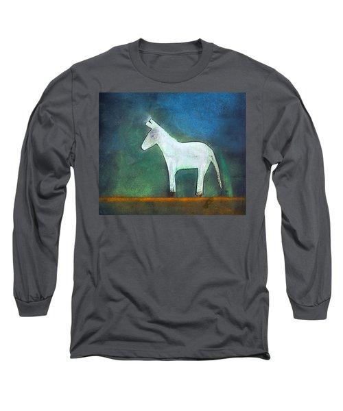 Donkey, 2011 Oil On Canvas Long Sleeve T-Shirt by Roya Salari