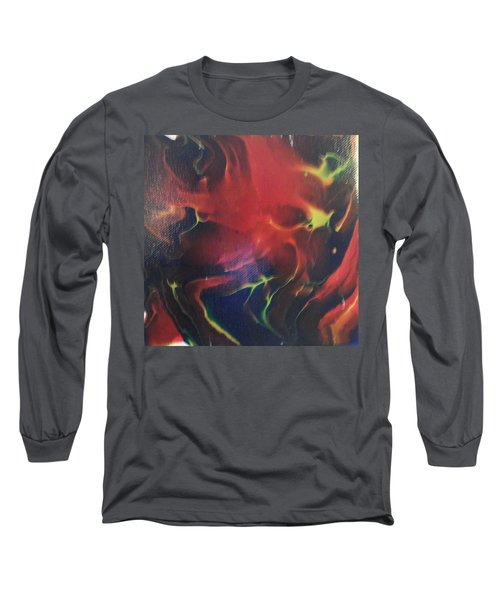 Long Sleeve T-Shirt featuring the painting Doorbell by Thomasina Durkay