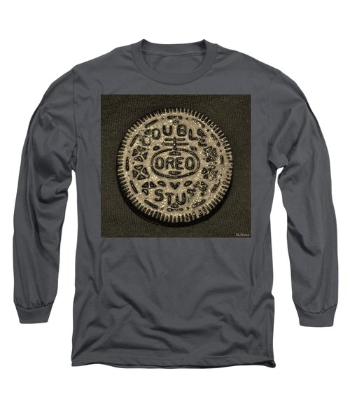 Double Stuff Oreo In Sepia Negitive Long Sleeve T-Shirt