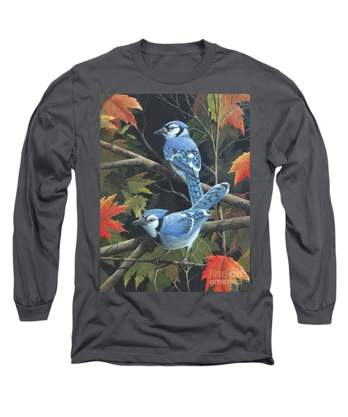 Long Sleeve T-Shirt featuring the painting Double Trouble by Mike Brown