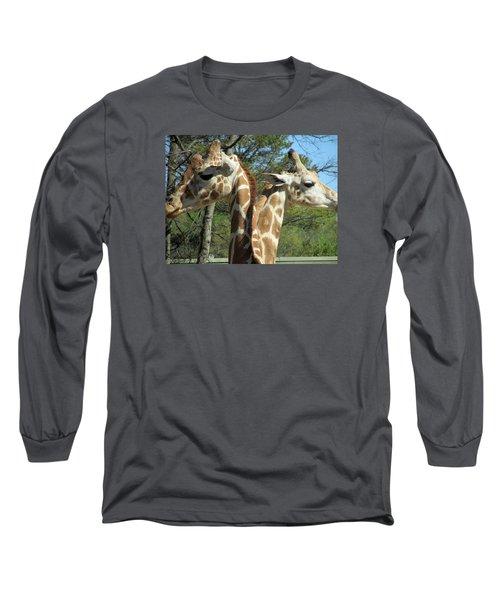 Giraffes With A Twist Long Sleeve T-Shirt