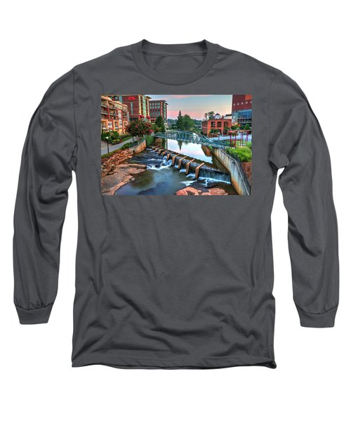 Downtown Greenville On The River Long Sleeve T-Shirt