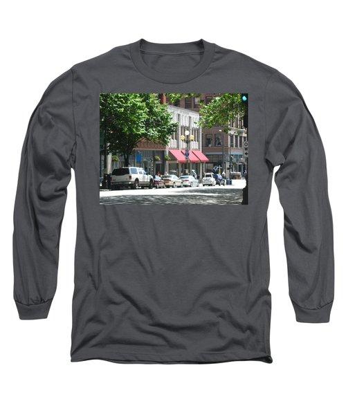 Downtown Neighborhood Long Sleeve T-Shirt by David Trotter