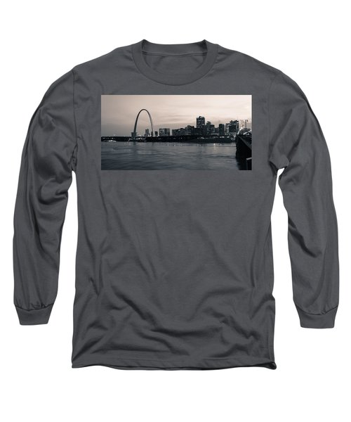 Downtown St. Louis In Twilight Long Sleeve T-Shirt
