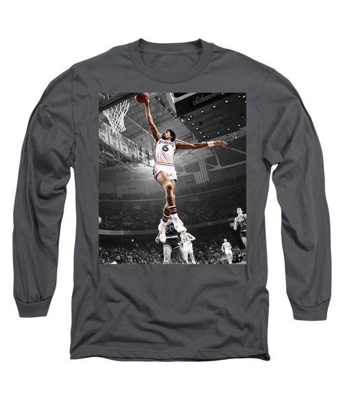 Dr J Long Sleeve T-Shirt by Brian Reaves