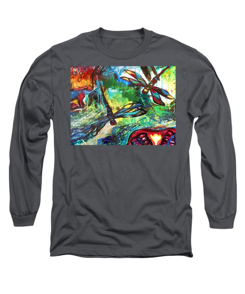Dragonflies Abstract 3 Long Sleeve T-Shirt