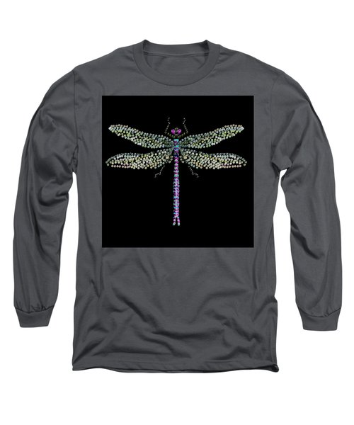 Dragonfly Bedazzled Long Sleeve T-Shirt