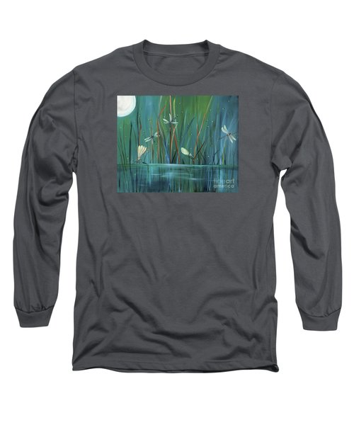 Dragonfly Diner Long Sleeve T-Shirt by Carol Sweetwood