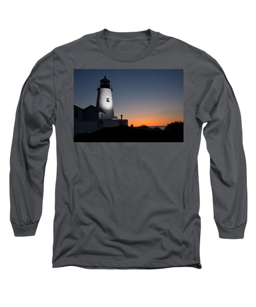 Dramatic Lighthouse Sunrise Long Sleeve T-Shirt