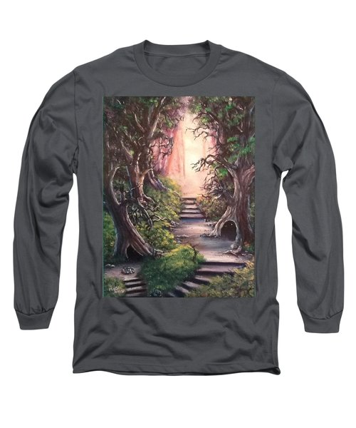 Long Sleeve T-Shirt featuring the painting Druid's Walk by Megan Walsh