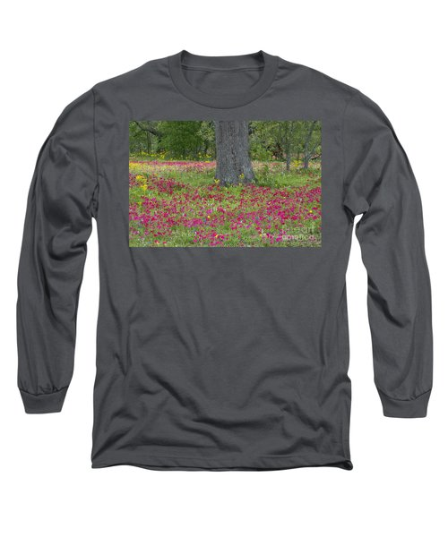 Drummonds Phlox And Crown Tickweed Central Texas Long Sleeve T-Shirt
