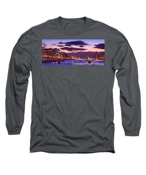 Dublin Docklands At Dawn / Dublin Long Sleeve T-Shirt