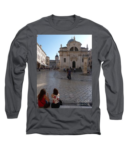 Long Sleeve T-Shirt featuring the photograph Dubrovnik - Time To Relax by Phil Banks