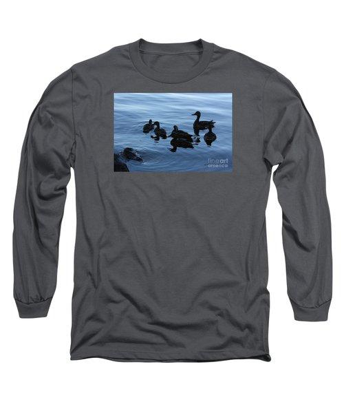 Ducks At Dusk Long Sleeve T-Shirt