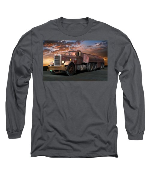 Duel Truck With Trailer Long Sleeve T-Shirt