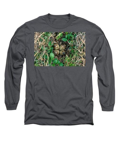 Dunlin Nest And Eggs Long Sleeve T-Shirt