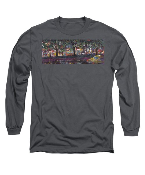 Dupont In The Rain Long Sleeve T-Shirt by Leela Payne