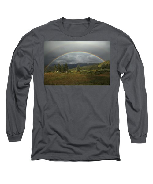 Durango Double Rainbow Long Sleeve T-Shirt by Alan Vance Ley