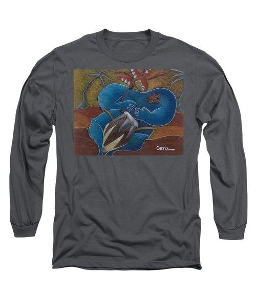 Duro A Los Cueros Long Sleeve T-Shirt by Oscar Ortiz