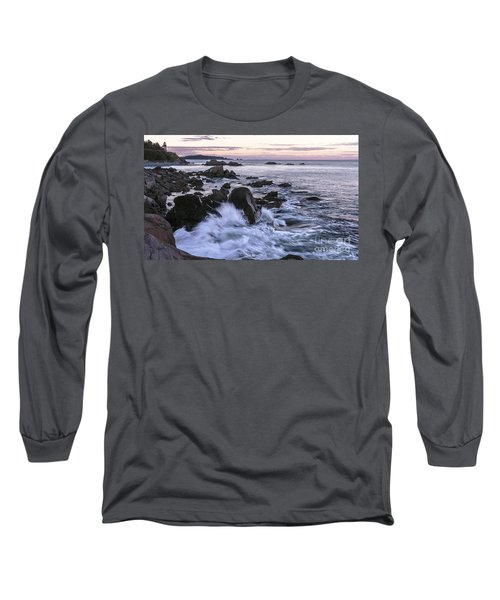 Dusk At West Quoddy Head Light Long Sleeve T-Shirt