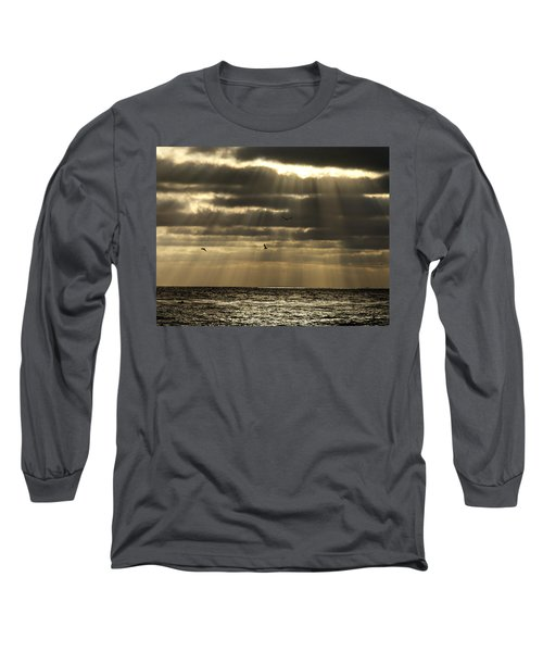 Dusk On Pacific Long Sleeve T-Shirt
