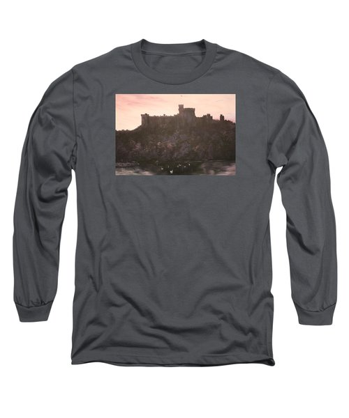 Long Sleeve T-Shirt featuring the painting Dusk Over Windsor Castle by Jean Walker