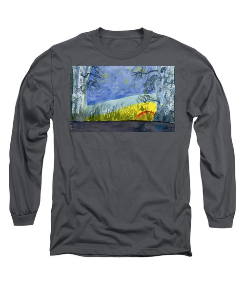 Dusky Scene Of Stars And Beans Long Sleeve T-Shirt
