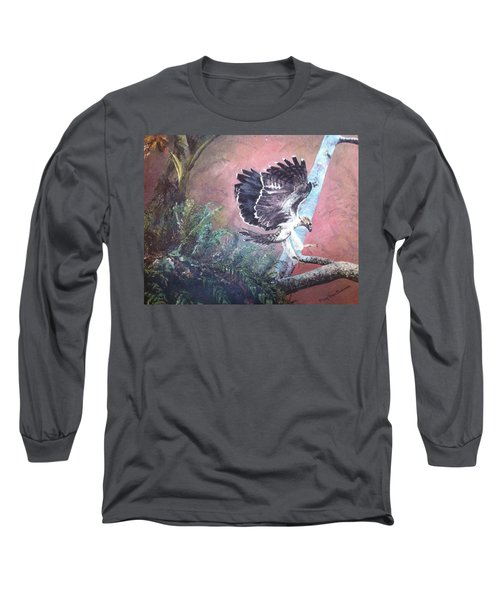 Eagle Light Long Sleeve T-Shirt by Mary Ellen Anderson