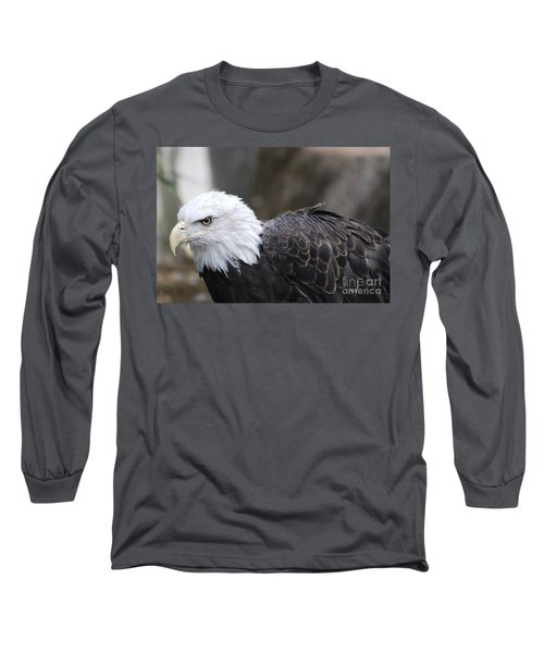 Eagle With Ruffled Feathers Long Sleeve T-Shirt by DejaVu Designs