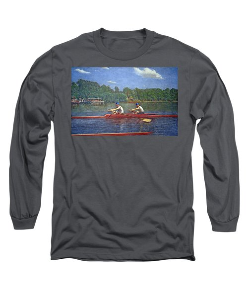 Eakins' The Biglin Brothers Racing Long Sleeve T-Shirt by Cora Wandel