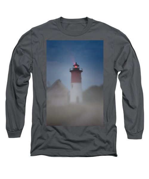 Early Morning Fog At Nauset Lighthouse Long Sleeve T-Shirt