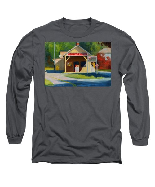 Earlysville Virginia Old Service Station Nostalgia Long Sleeve T-Shirt by Catherine Twomey