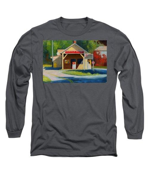 Earlysville Virginia Old Service Station Nostalgia Long Sleeve T-Shirt