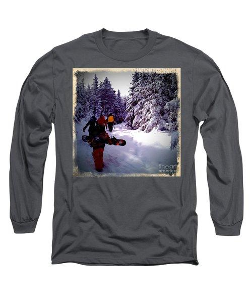 Long Sleeve T-Shirt featuring the photograph Earning Turns by James Aiken