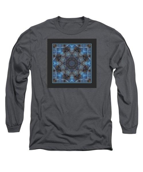 Long Sleeve T-Shirt featuring the digital art Earth Mandala by I'ina Van Lawick