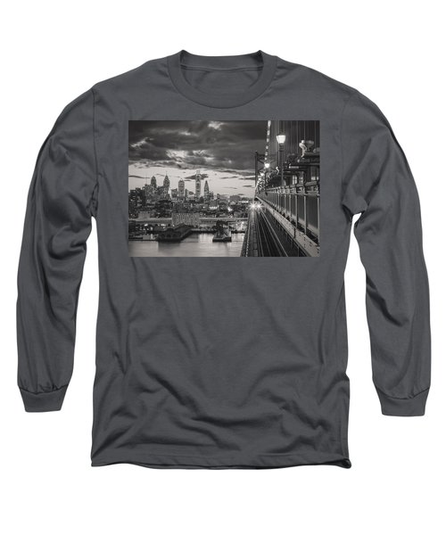 Eastbound Encounter In Black And White Long Sleeve T-Shirt