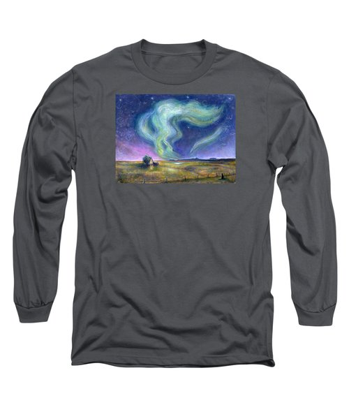 Echoes In The Sky Long Sleeve T-Shirt by Retta Stephenson