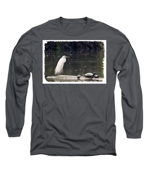 Egret And Turtles Long Sleeve T-Shirt