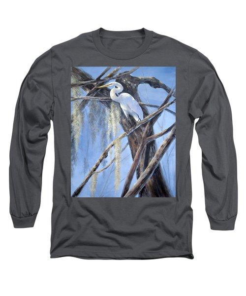 Egret Perch Long Sleeve T-Shirt