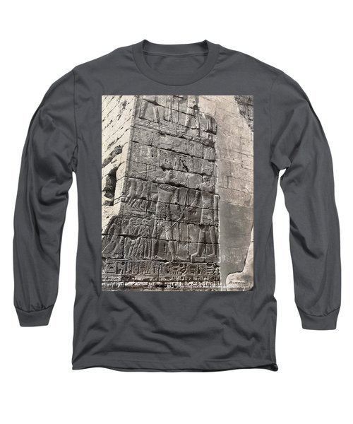 Egypt Bas Relief Long Sleeve T-Shirt