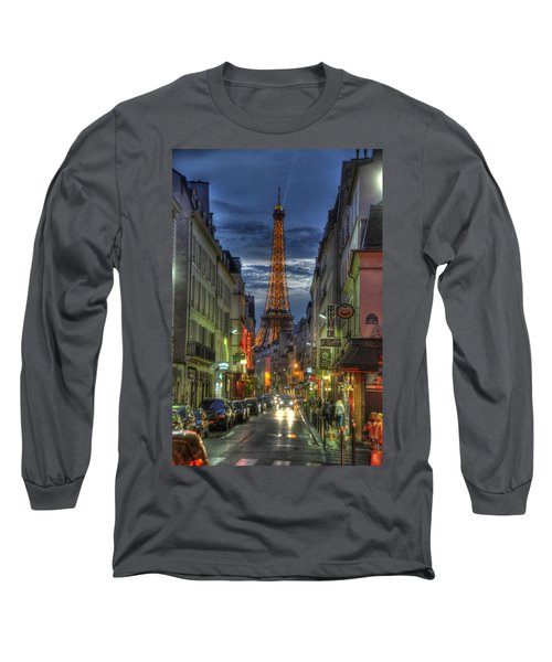 Eiffel Over Paris Long Sleeve T-Shirt