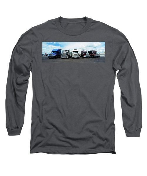 Eighteen Wheeler Vehicles On The Road Long Sleeve T-Shirt