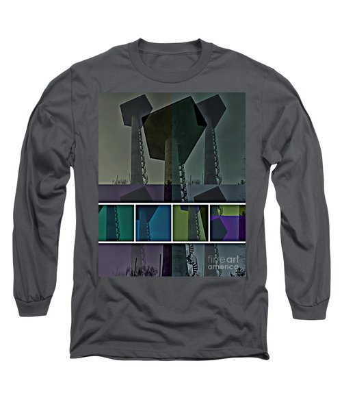 Long Sleeve T-Shirt featuring the photograph Elastic Concrete Part One by Sir Josef - Social Critic - ART